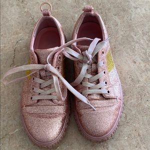 Opening ceremony glitter sneakers